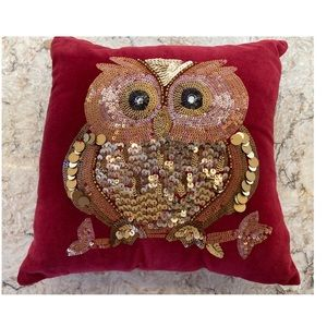 Pier one sequins owl pillow